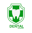 dental health logo vector image vector image