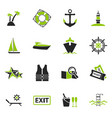 cruise icons set vector image