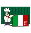 Chef of italian cuisine vector image