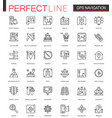 navigation thin line web icons set gps location vector image