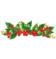 Beautiful Christmas garland vector image vector image