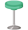 Green stool with metal leg vector image