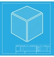 Cube sign  White section of icon on vector image