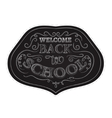 Back to school badges sticker set White chalk vector image