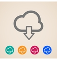cloud with download arrow icons vector image