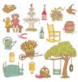 Colorful Summer Garden Doodles vector image