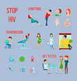 hiv infection aids icon set vector image