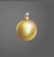 matted yellow gold christmas ball tree decoration vector image