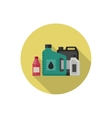 Motor oils icon vector image