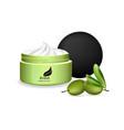olive oil cream realistic cosmetics vector image