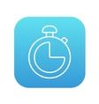 Stopwatch line icon vector image