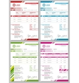 Invoice templates set vector image vector image