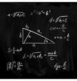 Rectangular Triangle formulas vector image