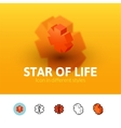 Star of life icon in different style vector image