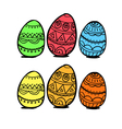 Set of eggs vector image vector image