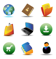 E-business icons vector image vector image