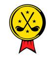 golf golden award with clubs icon icon cartoon vector image