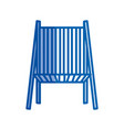 blue shading silhouette of beach chair front view vector image