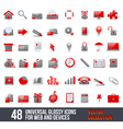 Universal Icons For Web and Mobile vector image vector image