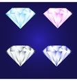 3d luxury diamond brilliant icon set different vector image