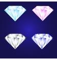 3d luxury diamond brilliant icon set different vector image