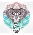 Tribal elephant with tribal ornaments vector image