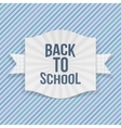 Back to School striped Label vector image