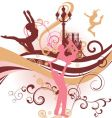 city wave dance people vector image