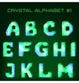 diamond font vector image
