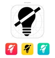 Disabled bulb icon vector image
