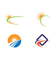 logo template sun over horizon vector image