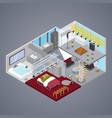 modern duplex apartment interior isometric vector image