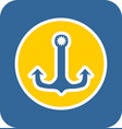 sea sticker icon anchor vector image