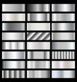 silver steel chrome gradients set vector image
