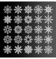 Snowflakes set pack of snowflakes design templates vector image