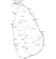 Sri Lanka Black White Map vector image
