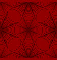 stylized spider web seamless pattern black and red vector image