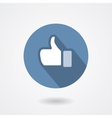 Thumb up hand gesture sign vector image
