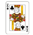 King of Clubs vector image