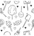 collection of various candy doodle style vector image