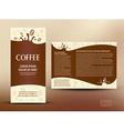 brochure folder card coffee liquid vector image vector image