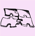Puzzle 4 parts vector image vector image