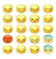 Set of cute smiley emoticons emoji vector image