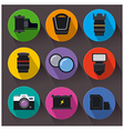 photo equipment icon set vector image