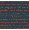 seamless handwritngs on cell pattern vector image vector image