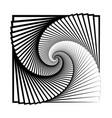 abstract swirl of infinity vector image