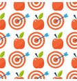 apple background textile red fruits slice seamless vector image