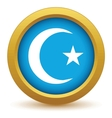 Gold Islam icon vector image