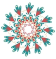 Hand-drawn ornamental round lace frame vector image