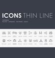 partnership thin line icons vector image